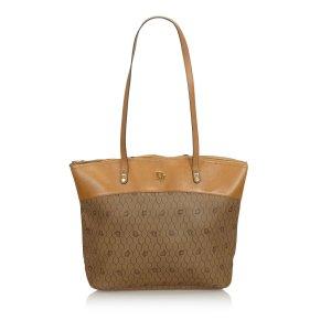 Dior Honeycomb Coated Canvas Shoulder Bag