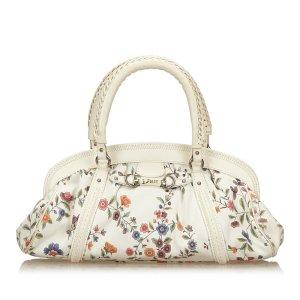 Dior Jacquard Floral Oblique Handbag