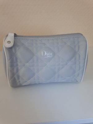 Christian Dior Borsetta mini grigio chiaro-bianco Finta pelle