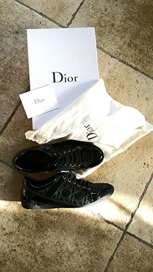 Dior lacksneakers in schwarz