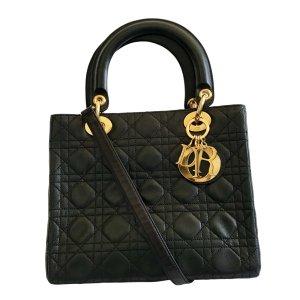 Dior Lady Dior black leather