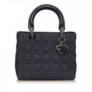 Dior Lady Dior Denim Cannage Handbag