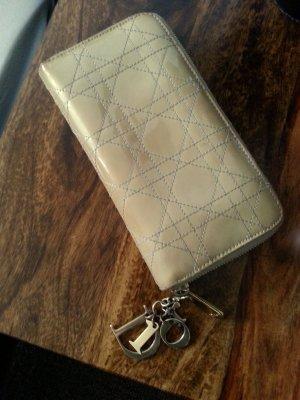 DIOR Lady Dior Geldbeutel Geldbörse beige Leder