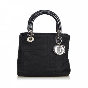 Dior Lady Dior Nylon Cannage Handbag