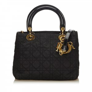 Dior Lady Dior Nylon Satchel