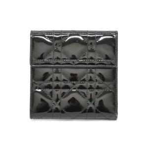 Dior Portefeuille noir cuir
