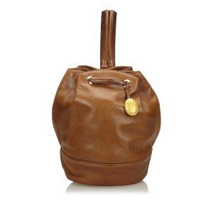 Dior Sac à dos brun cuir