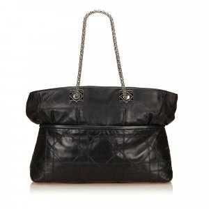 Dior Leather Canage Tote Bag