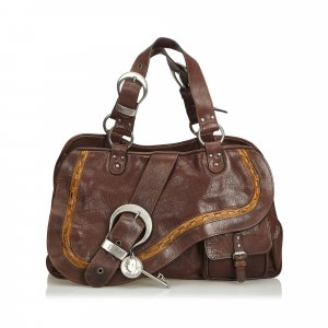 Dior Leather Gaucho Saddle Bag