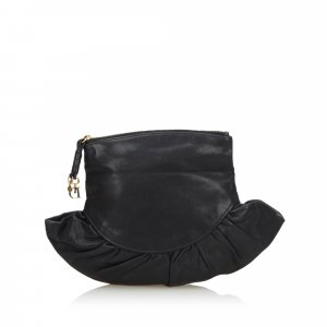 Dior Leather Gipsy Foldver Clutch Bag