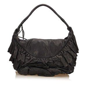 Dior Leather Ruffled Gypsy