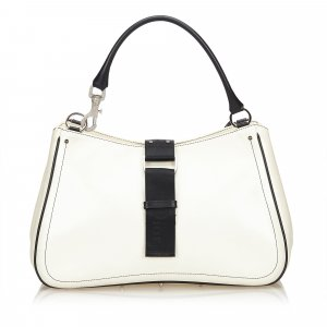 Dior Leather Two Tone Handbag