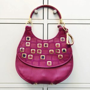 Dior Frame Bag violet leather