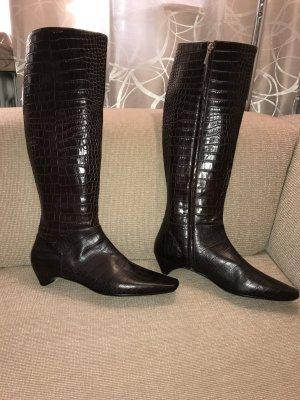Dior Lederstiefel Stiefel 41 braun