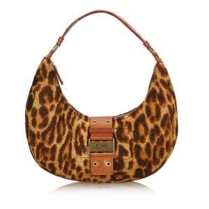 Dior Leopard Print Fur Handbag