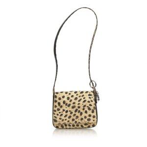 Dior Leopard-Printed Nylon Cannage Shoulder Bag