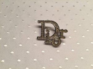 Dior Logo-Brosche mit Strass