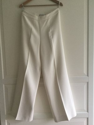 Christian Dior Marlene Trousers white-natural white mixture fibre