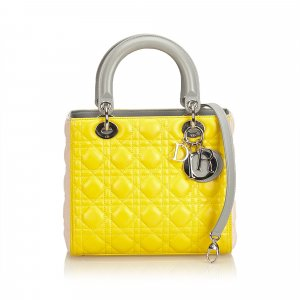 Dior Satchel yellow leather