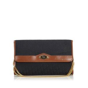 Dior Oblique Canvas Chain Crossbody Bag