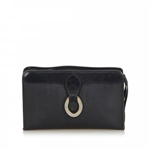 Dior Oblique Coated Canvas Clutch Bag