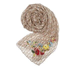 Dior Écharpe beige soie
