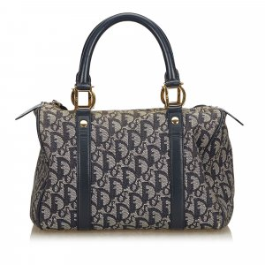 Dior Oblique Jacquard Boston Bag