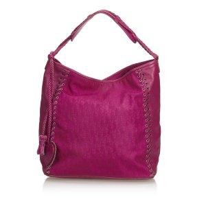 Dior Oblique Nylon Whipstitch Handbag