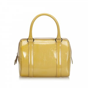 Dior Oblique Patent Leather Boston Bag