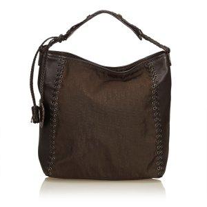 Dior Tote dark brown nylon