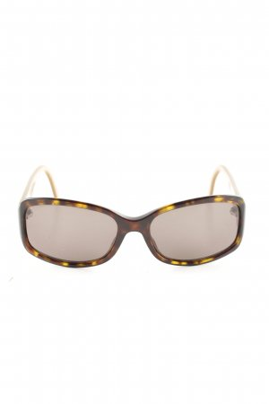 Dior ovale Sonnenbrille braun Leomuster Casual-Look