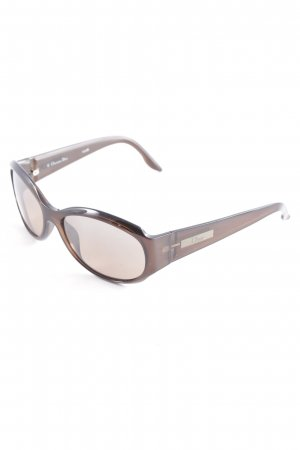 Dior Oval Sunglasses dark brown casual look