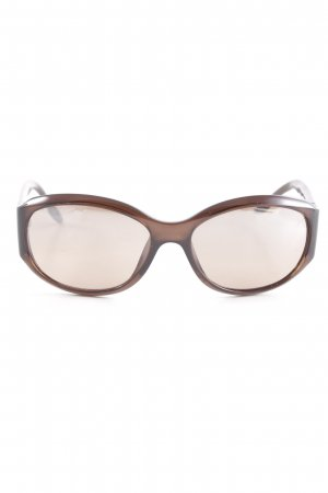 Dior ovale Sonnenbrille dunkelbraun Casual-Look
