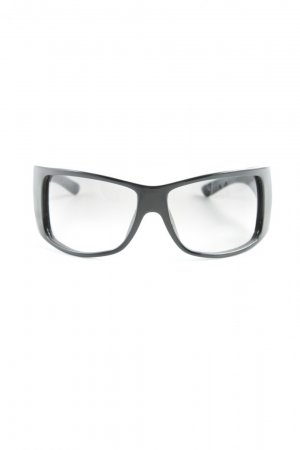 Dior Oval Sunglasses black-silver-colored casual look