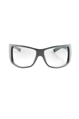 Dior ovale Sonnenbrille schwarz-silberfarben Casual-Look
