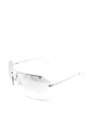 Dior Oval Sunglasses silver-colored-azure classic style