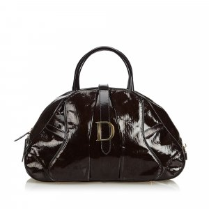 Dior Patent Leather Saddle Dome Handbag