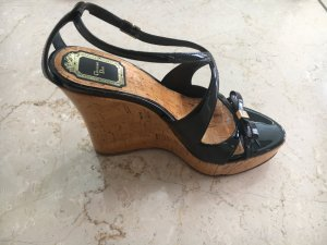 Dior Sandales à talons hauts et plateforme noir cuir
