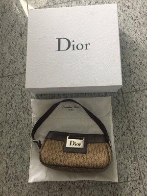 Dior Pochette  in Stoff/Leder Brauntönen