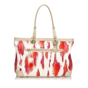 Dior Printed Canvas Shoulder Bag