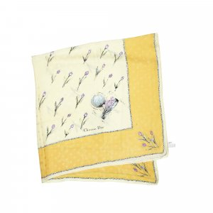 Dior Écharpe jaune soie