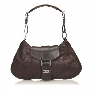 Dior Python Leather Handbag
