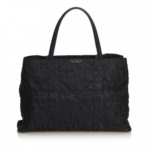 Dior Quilted Nylon Tote Bag