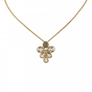 Dior Rhinestone Studded Pendant Necklace