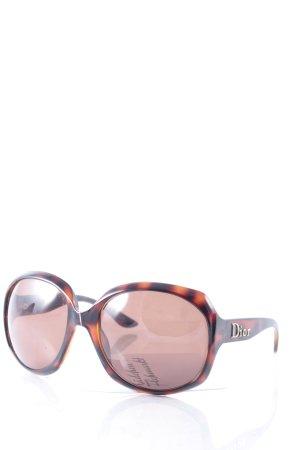 Dior runde Sonnenbrille braun-dunkelbraun Farbverlauf Street-Fashion-Look