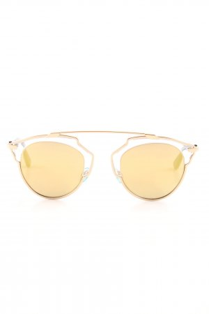 Dior Round Sunglasses gold-colored street-fashion look