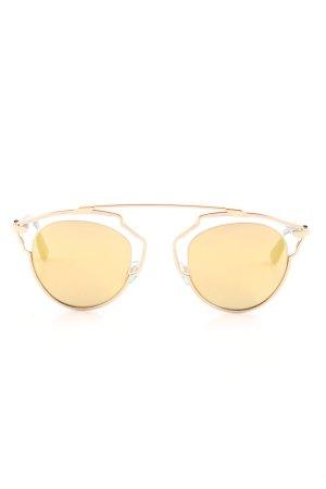 Dior runde Sonnenbrille goldfarben Street-Fashion-Look