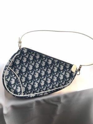 Christian Dior Borsetta bianco-blu scuro