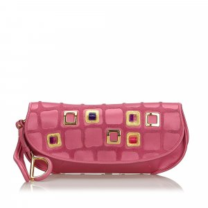 Dior Clutch pink viscose