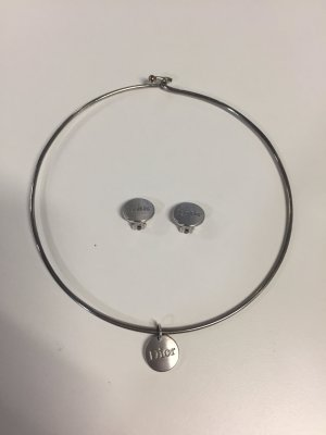Dior Collar estilo collier color plata acero inoxidable